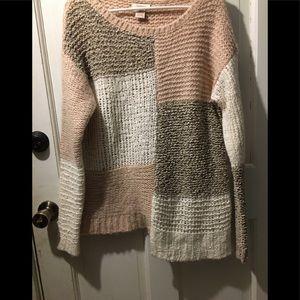 Sundance Catalog L asymmetric sweater